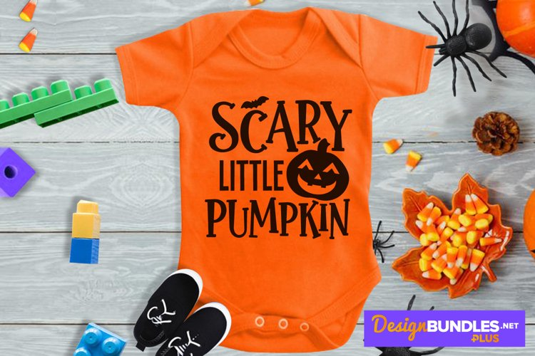 Scary Little Pumpkin, Jack O Lantern Svg, Halloween Baby Svg