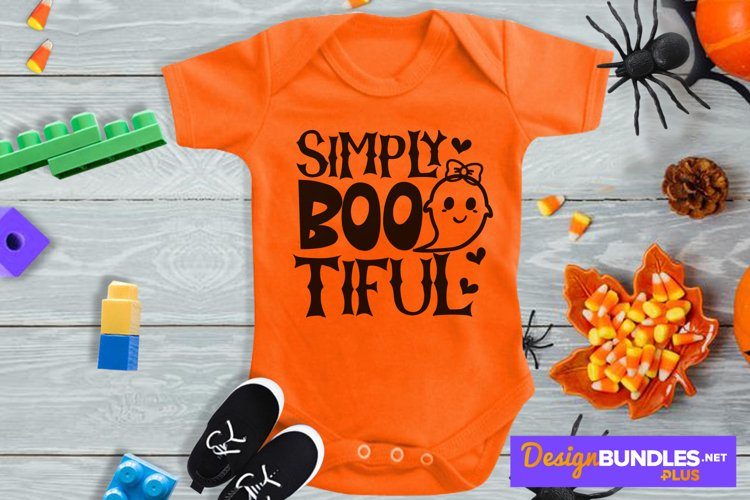 Simply Bootiful, Baby Ghost Svg, Halloween Toddler Svg