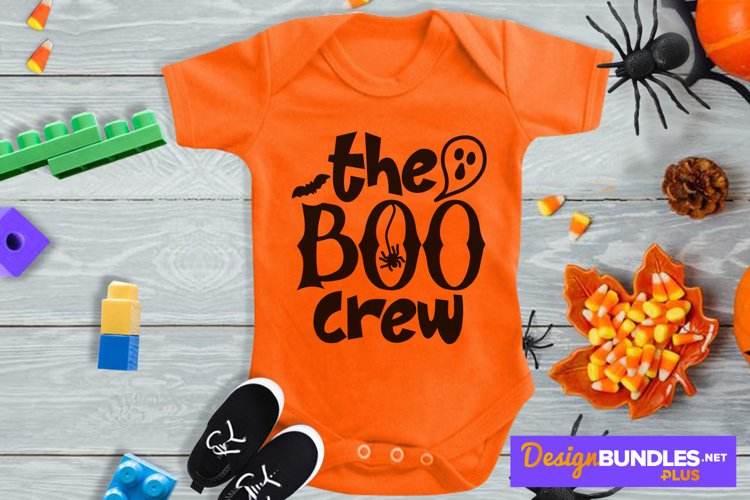 The Boo Crew, Cute Baby Halloween Svg, Baby Ghost Svg
