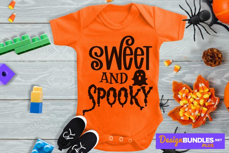 Sweet And Spooky, Baby Ghost Svg, Halloween Svg, Ghoul Svg