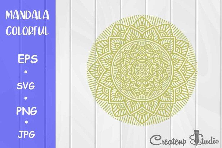 Mandala COLORFUL Flower Design SVG PNG JPG EPS