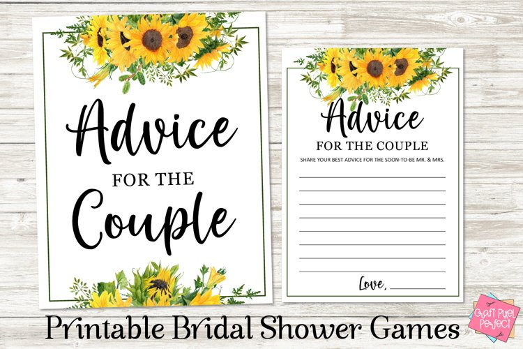 Advice For The Couple, Wedding Shower Game, Couples Game
