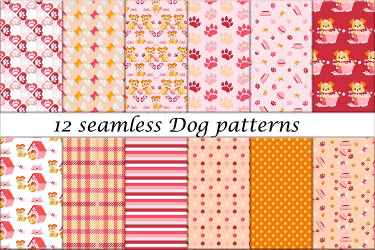 12 Seamless Dog patterns