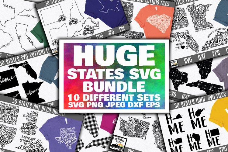 Huge States SVG Bundle