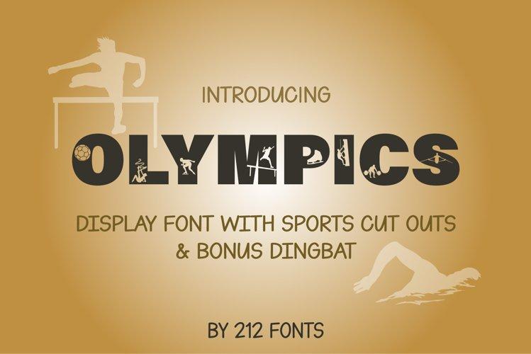 212 Olympics Display Font Sports Alphabet and Dingbat OTF example image 1