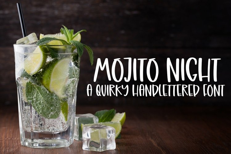 Web Font Mojito Night - A Quirky Handlettered Font example image 1