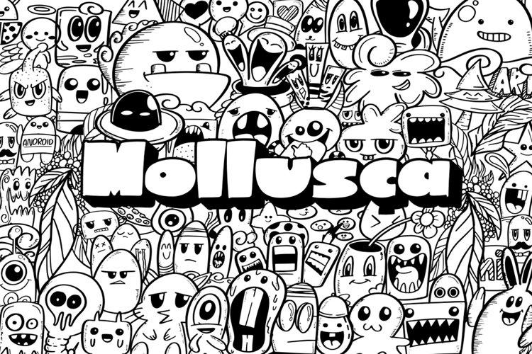 Mollusca Font Trio   Doodle Font example image 1