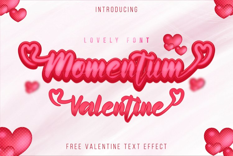 Momentum Valentine - a sweet lovely handwritten font example image 1