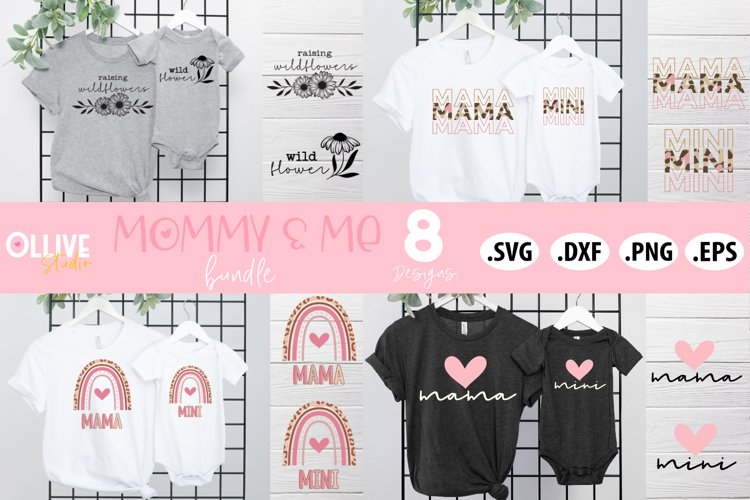 Mommy & Me Bundle SVG | Mama and Mini SVG example image 1