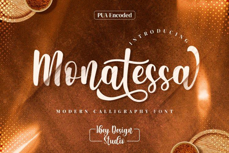 Monatessa - Modern Calligraphy font