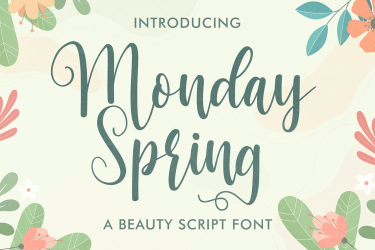 Monday Spring - Script font