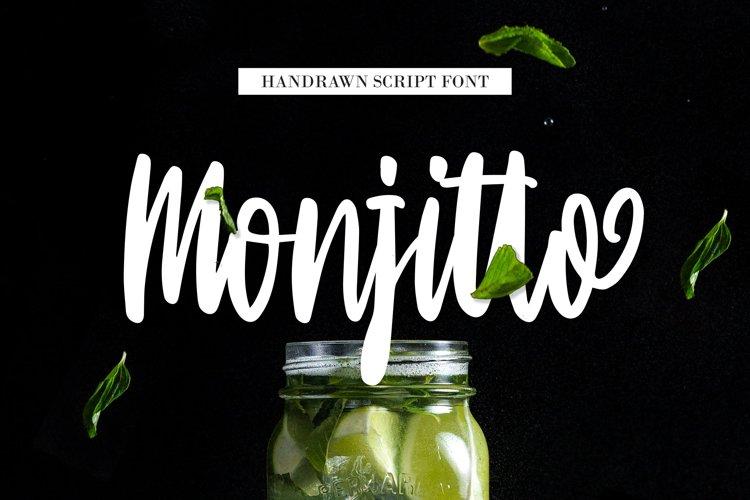 Monjitto - Handrawn Script Font example image 1