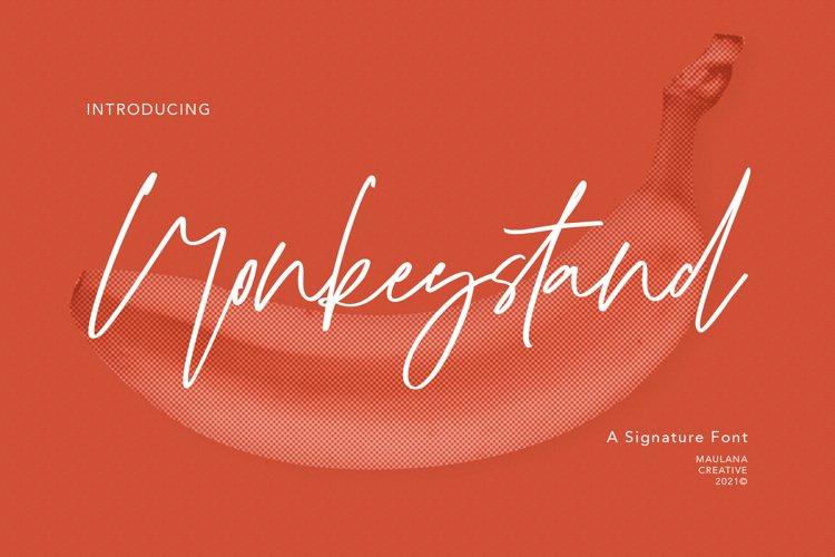 Monkeystand Signature Font example image 1