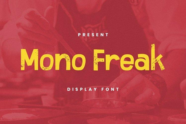 Web Font Mono Freak Font example image 1
