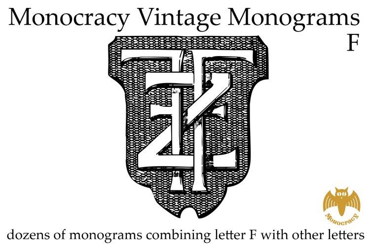 Monocracy Vintage Monograms F example image 1