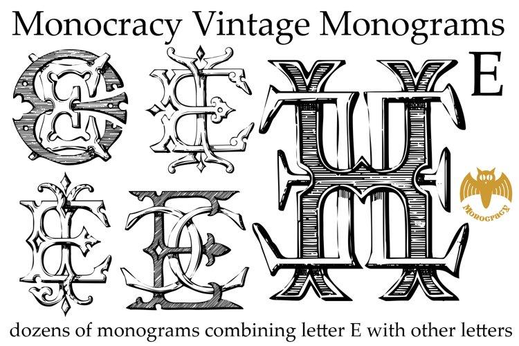 Monocracy Vintage Monograms E example image 1