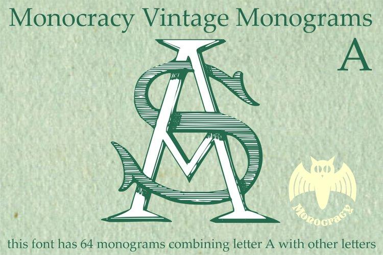 Monocracy Vintage Monograms Pack ABCDEFG example image 1