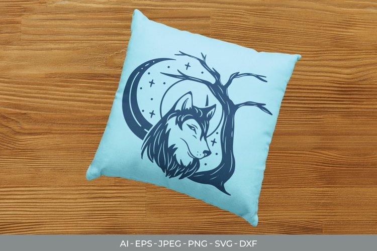 Monogram Shadow Wolf SVG example image 1