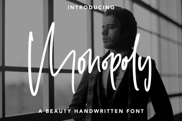 Monopoly - Handwritten Font