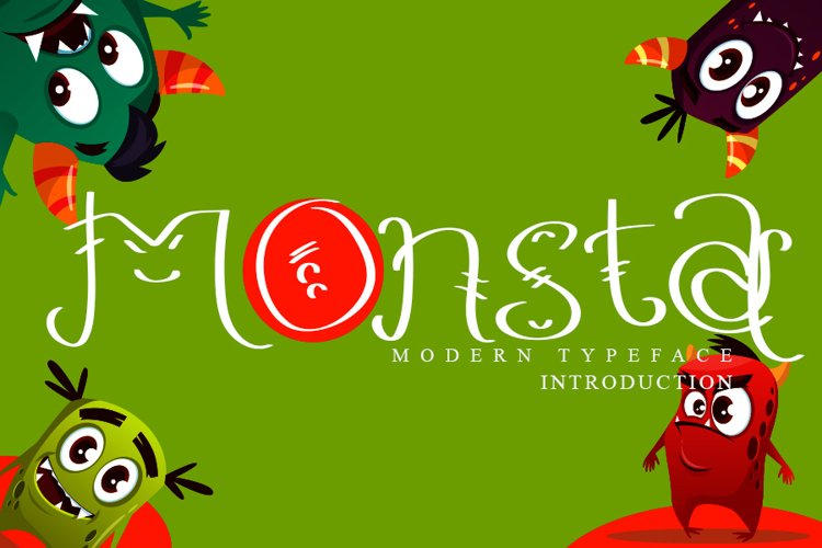 Monsta - Cute Display Font