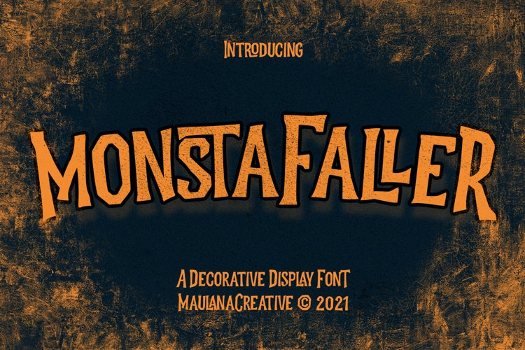 Monstafaller Display Font example image 1