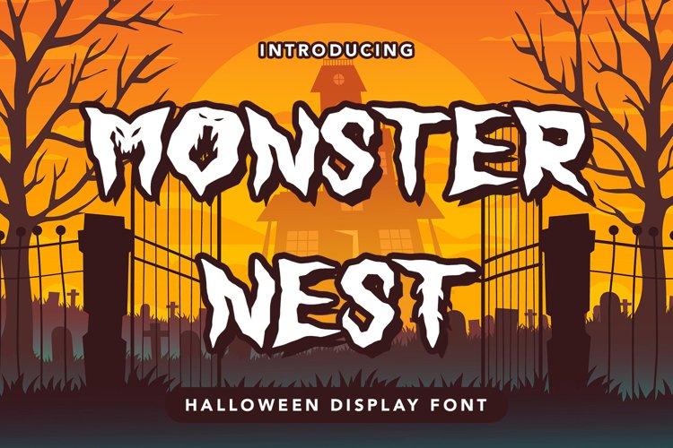Monster Nest - Halloween Display Font example image 1