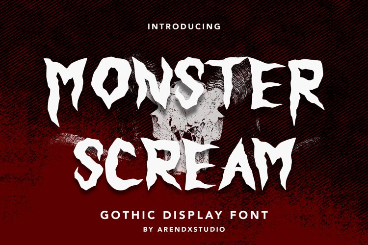 Monster Scream - Gothic Display Font example image 1