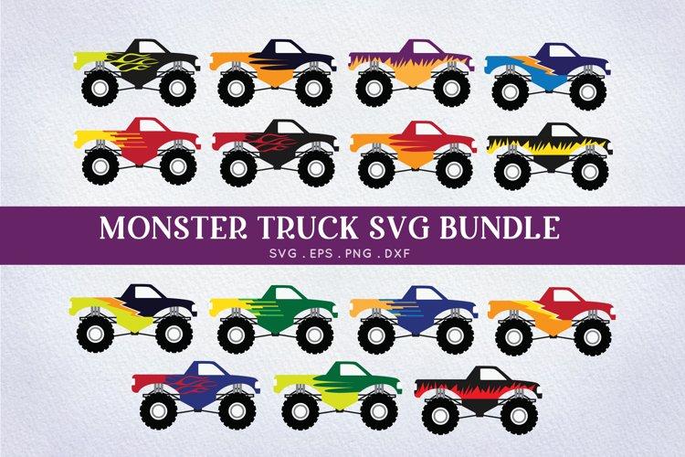 Monster Truck svg bundle - car monster machine svg cut files