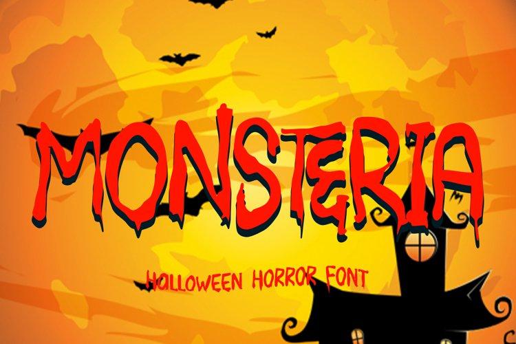 MONSTERIA - Halloween Font example image 1