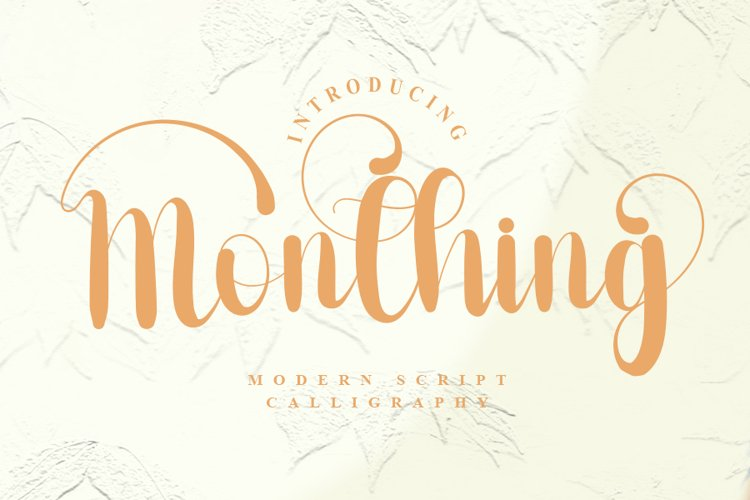 Monthing - Modern Script Calligraphy Font example image 1