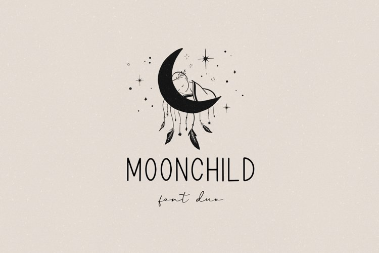 Moonchild font duo example image 1