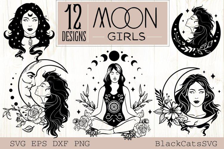 Moon Girls , Celestial Girls, Magic Girls SVG 12 designs
