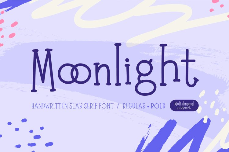 Moonlight | Handwritten Slab Serif Font