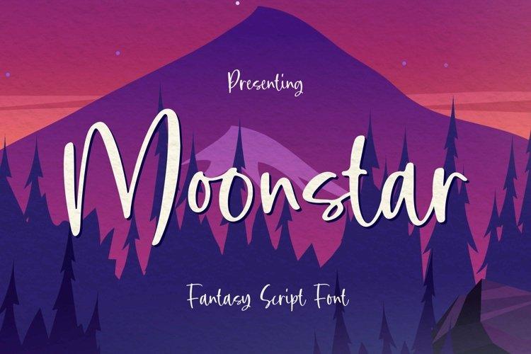 Web Font Moonstar - Fantasy Script Font example image 1