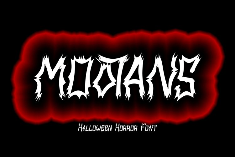 MOOTANS - Halloween Font example image 1
