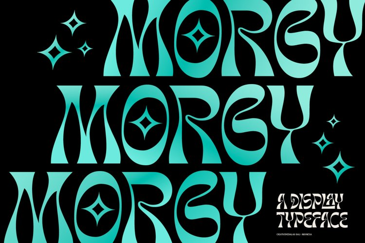 Morgy Psychedelic display font example image 1
