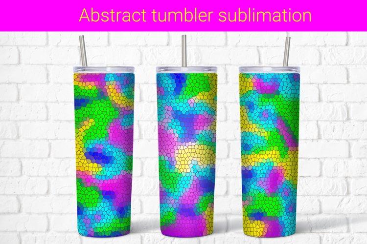 Mosaic neon sublimation tumbler wrap 20 Oz