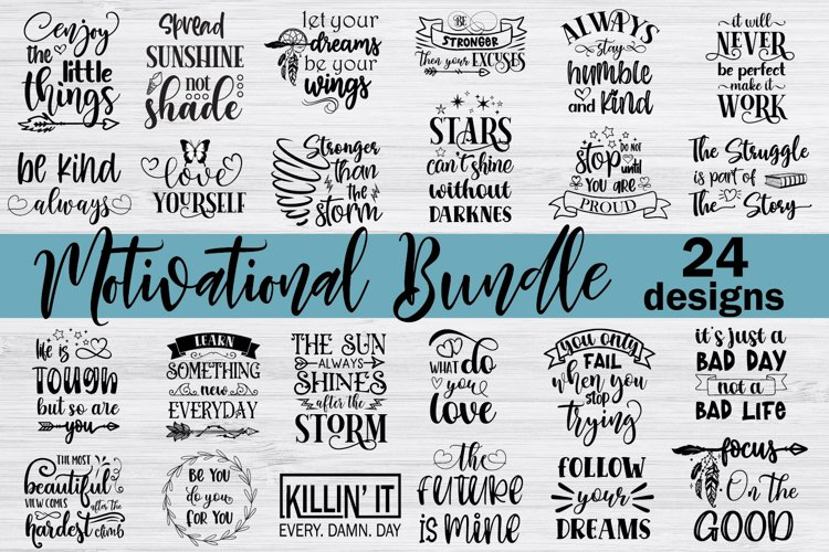 Motivational Quotes Svg Bundle Hand Lettered example image 1