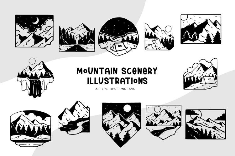 Mountain Scenery Illustrations