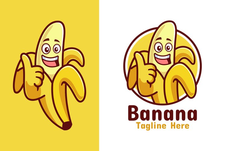 Banana Thumbs Up Logo Design
