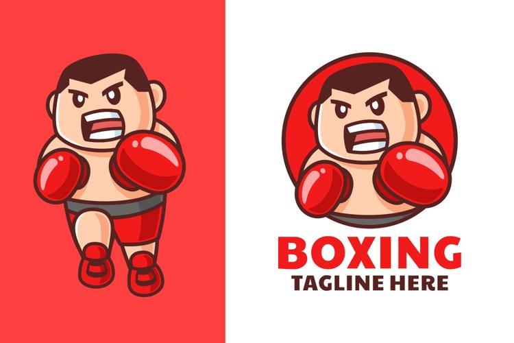 Male Boxing Cartoon Logo Design