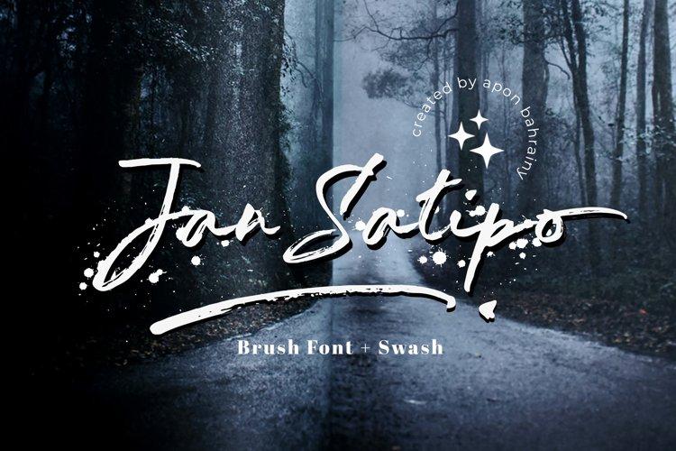 Jan Satipo - Brush Font example image 1