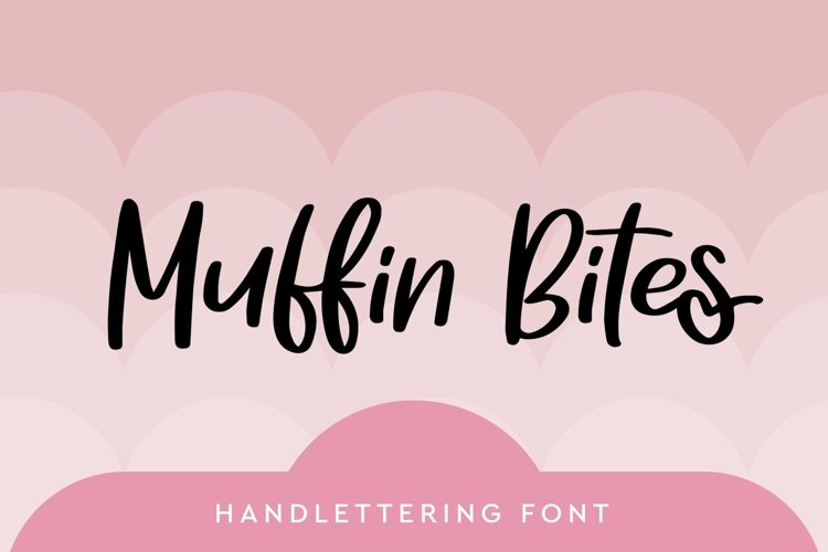 Web Font Muffin Bites - Handlettering Font example image 1