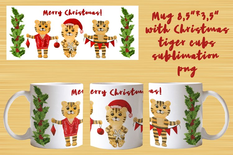 Mug christmas tiger cubs sublimation