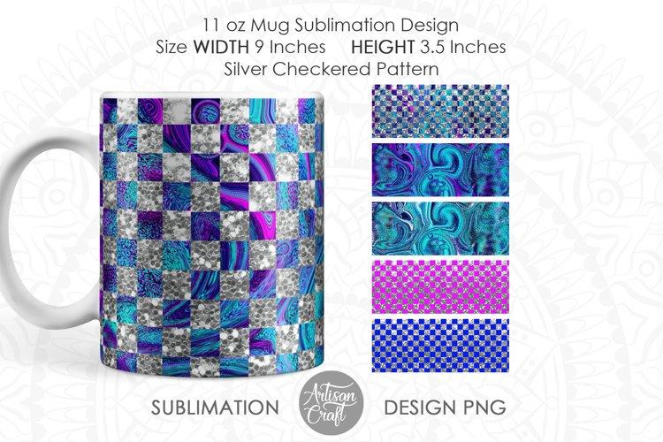 Mug design template for sublimation mug wrap