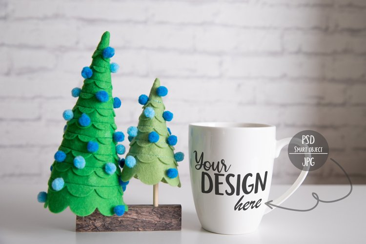 Christmas Cup Mockup with Smart Object