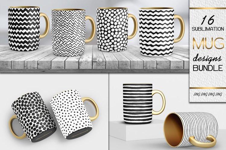 Mug Sublimation Design Bundle Vol.1  PNG Hand Drawn Patterns