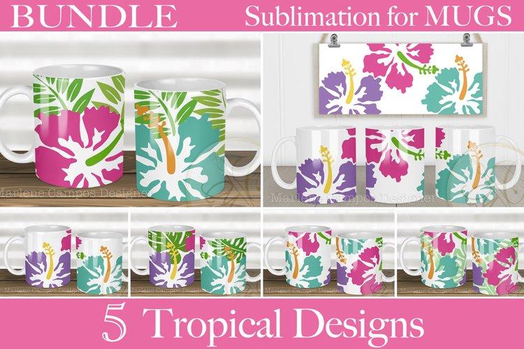 BUNDLE Tropical Designs Sublimation for Mugs