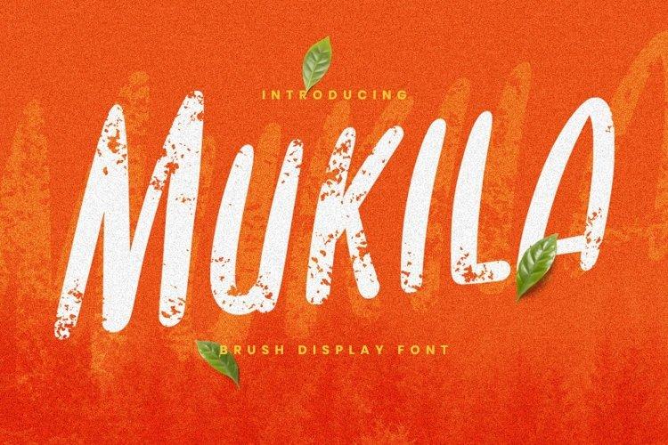 Web Font Mukila Font example image 1