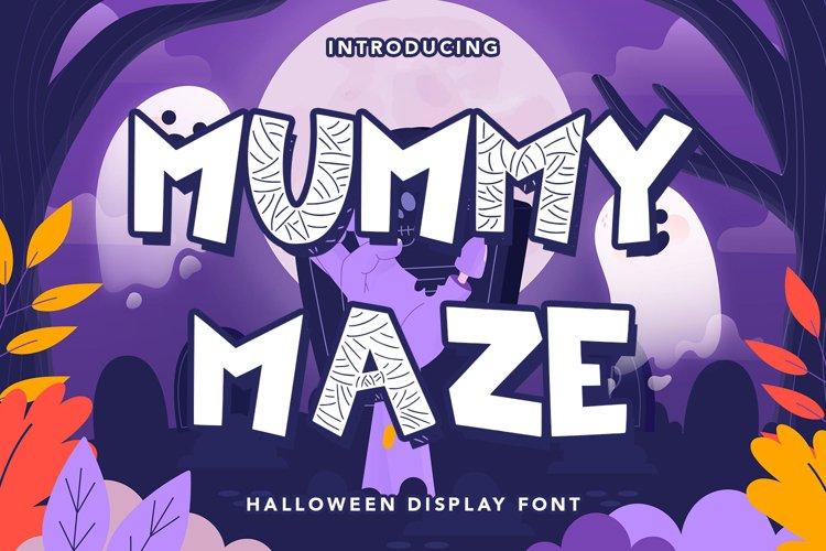 Mummy Maze - Halloween Display Font example image 1